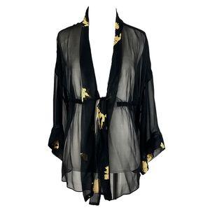 Song Dynasty Gold Leaf Demi Robe by Ari Dein